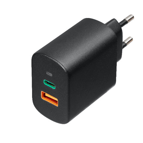 65W Travel Charger GaN, USB-C(PD)3.0 + USB-A QC3.0,