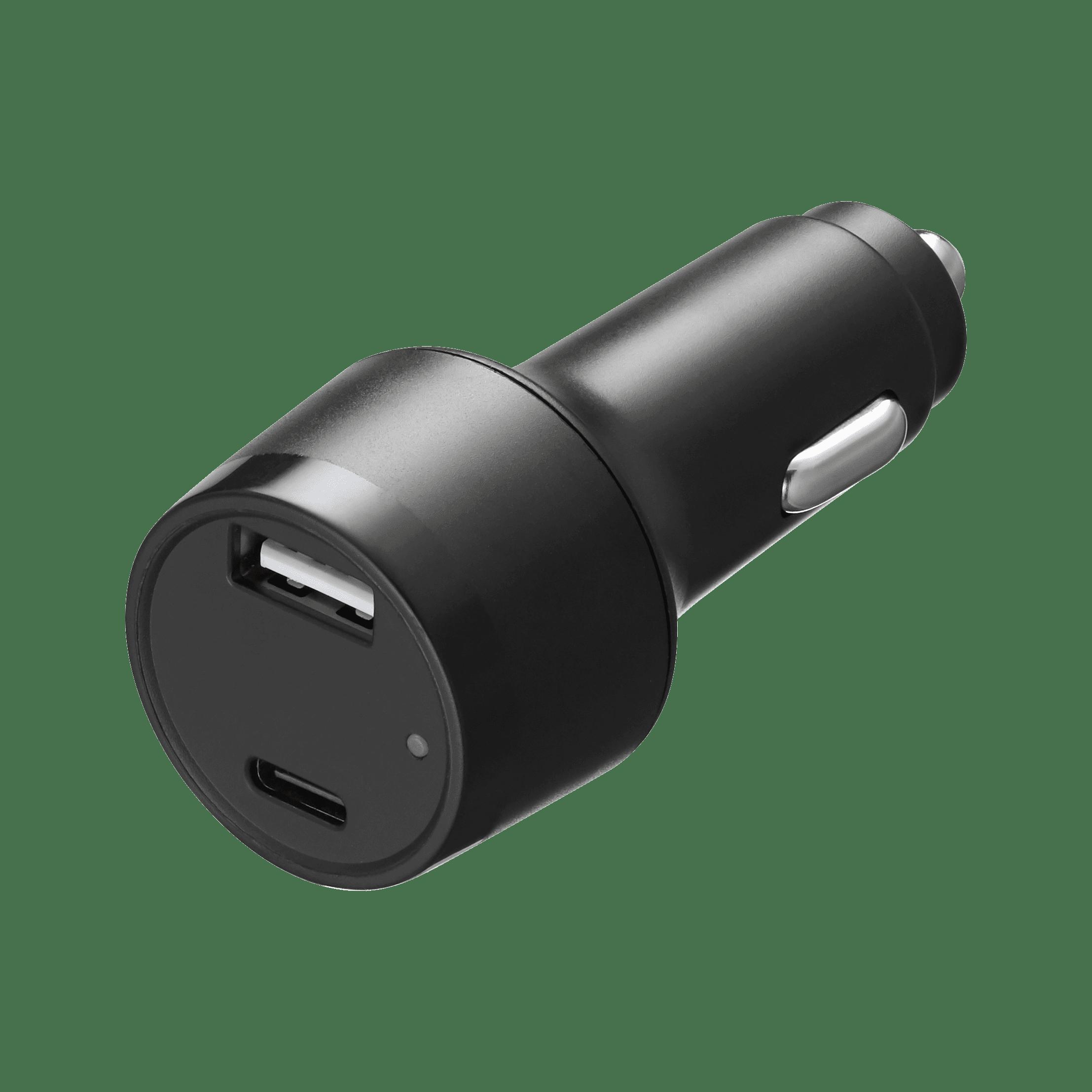 TPD-B42W24B 42W PD  USB C + USB A (2.4A) Type-C Car Charger