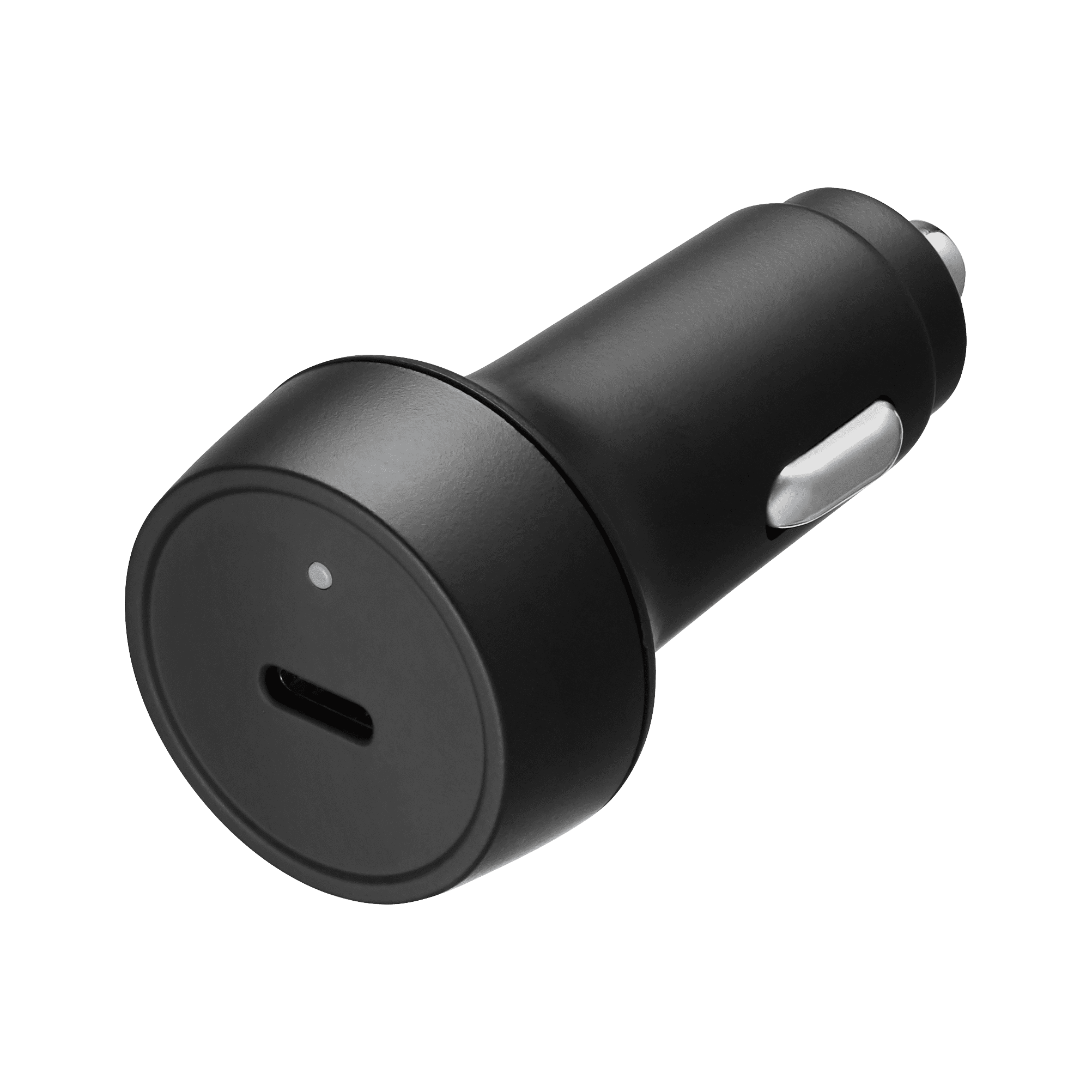 TPD-A18B (Black) Compact Car charger with LED Type-C 18W power delivery