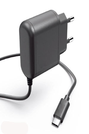 TAC-303 Quick charge 3.0 wall charger with captive cable Type C plug