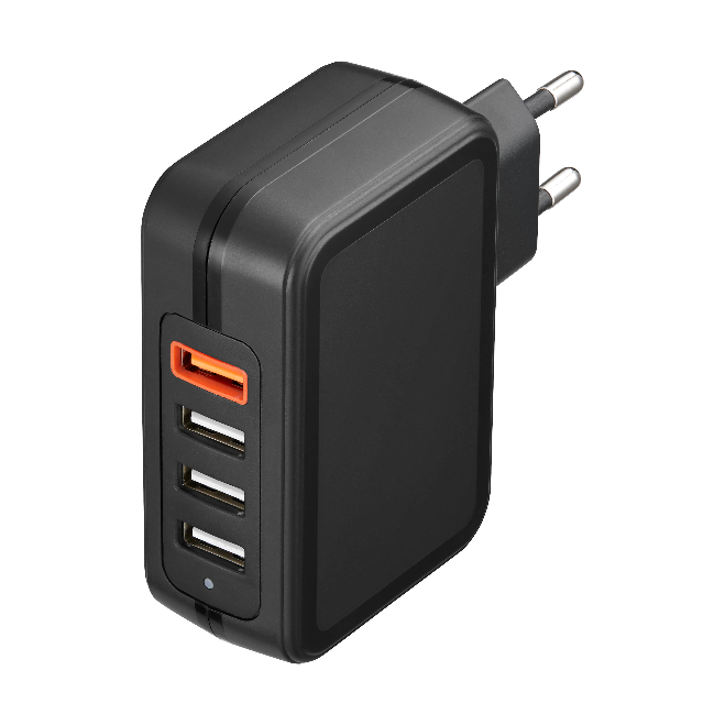 33W Wall Charger with QC3.0+3(5v/3A)