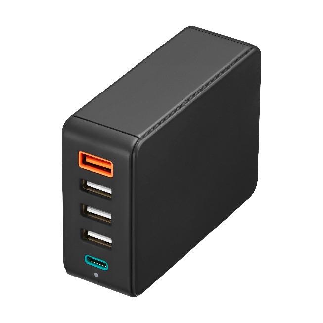 51W Charging Hub USB PD3.0 with USB QC3.0+4.8A plus LED