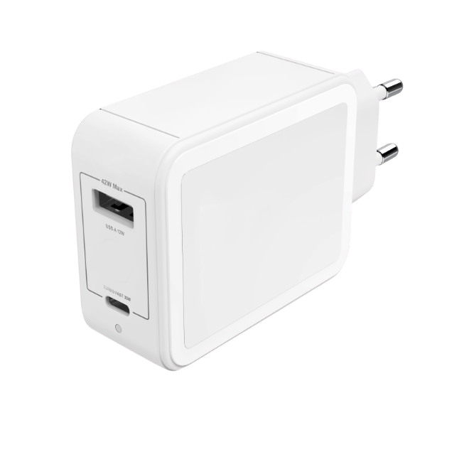 TAD-B42W24W USB Type C Power Delivery PD Charger with Smart Port 5V2.4A