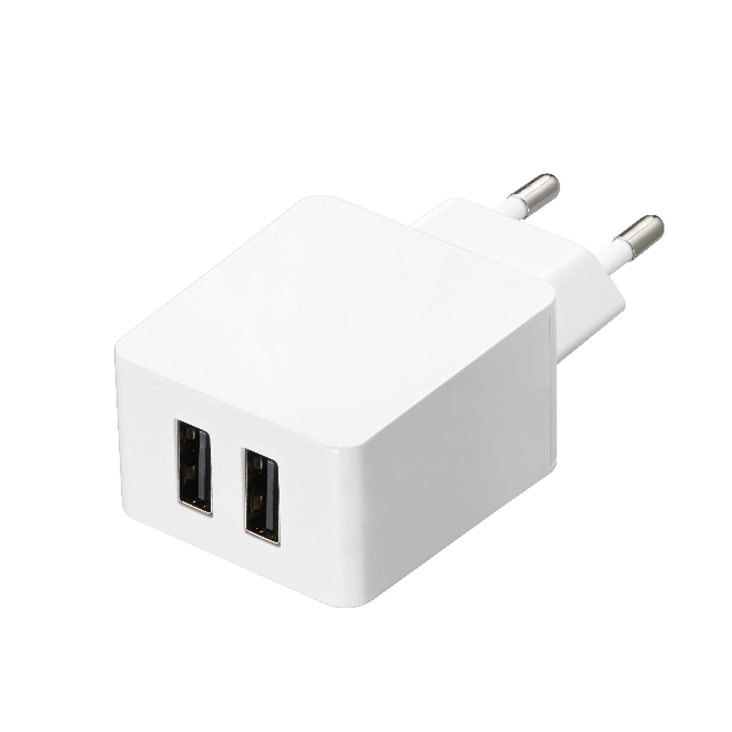 TA-408 Compact dual micro usb wall charger