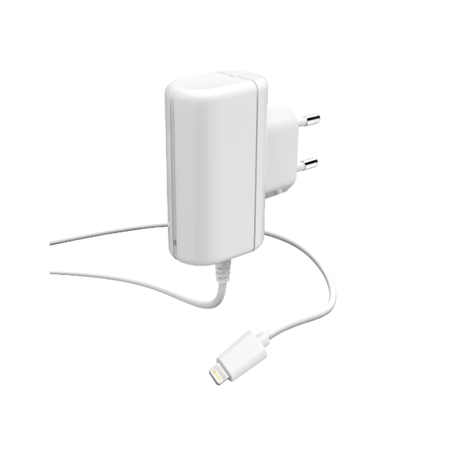Apple lightning plug with captive cable wall charger / 1 A