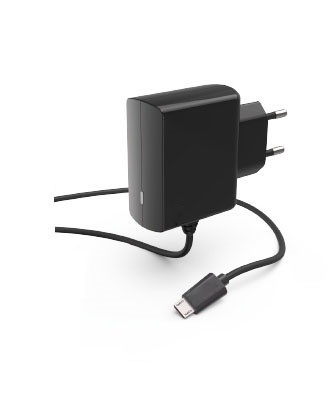 TA-112B Wall charger with captive cable micro USB plug(BLK)